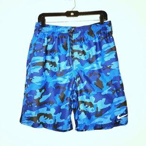 Nike Blue Camo Swim Trunks